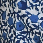 הדפס כחול פרחים
