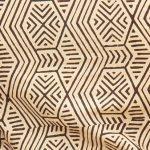 African brown print